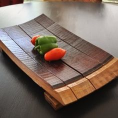 Wine Barrel Serving Platter