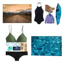 """round 2 // contest entry"" by nc-preppy-living ❤ liked on Polyvore featuring Pottery Barn, J.Crew, Sun Bum, Vineyard Vines, GUESS, L.L.Bean and Patagonia"