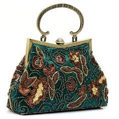 Handmade Beaded 1920s Vintage Purse Bag Handbag vintagedancer.com