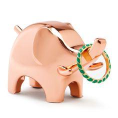 Umbra Anigram Ring Holder - Copper Elephant - animal ring stand