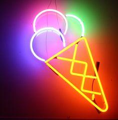 Neon ice cream cone!