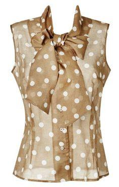 Polka Dots Polka Dot Top, Tops, Women, Fashion, Polka Dot Shirt, Moda, Women's, La Mode, Shell Tops