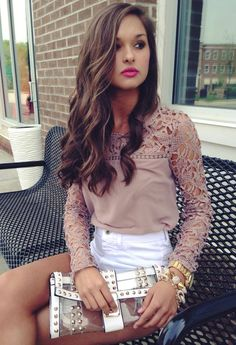 nude lace top #swoonboutique