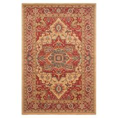 Persian-inspired area rug.