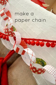 My Scandinavian-ish Red and White Mantel make a paper chain - Hyink's ugly sweater party. Tacky Christmas Party, Xmas Party, Party Party, Party Games, Ugly Xmas Sweater, Christmas Sweaters, Christmas Paper Chains, Christmas Crafts, Christmas Ideas