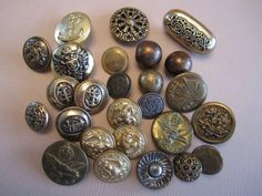 Brass Button Lot  26 by CuriousCatVintage on Etsy, $17.00
