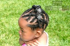 Basket Weave Cornrows with Rope Twist Headband   Chocolate Hair / Vanilla Care
