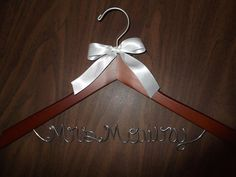 Budget Wedding Hangers Personalized Bridal by BudgetWeddingHangers, $6.99 Cute!
