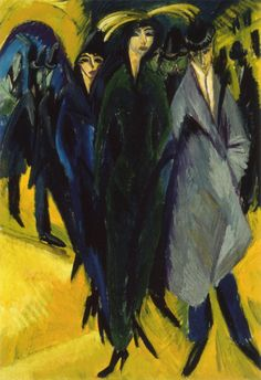"""Ernst Ludwig Kirchner was a german expressionist painter and printmaker and one of the founders of the artists group Die Brücke or """"The Bridge"""", a key group leading to the foundation of Expressionism in century art. Ernst Ludwig Kirchner, Franz Marc, Davos, Wassily Kandinsky, Street Art, Berlin Museum, Expressionist Artists, Amedeo Modigliani, Colors"""