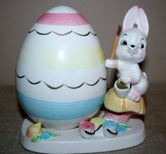 Vintage Napco Signed Easter Egg Bunny Rabbit by AstridsPastTimes
