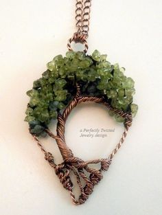 Sold! Wire Wrapped Tree of Life Bonsai Pendant by PerfectlyTwisted