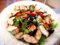 Berry Chicken Salad with Blackberry Balsamic Vinaigrette