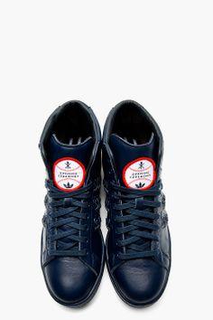 ADIDAS ORIGINALS BY O.C. Navy Baseball Stan Smith Sneakers