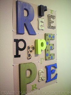 DIY-Initial Letter Wall