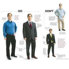 Business casual and traditional interview attire for men (from casual interview outfit - Casual Outfit Business Professional Dress, Business Attire For Men, Professional Dresses, Business Dresses, Business Formal, Business Ideas, Casual Professional, Business Clothes, Business Men