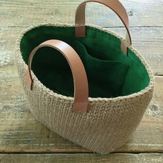 """New Cheap Bags. The location where building and construction meets style, beaded crochet is the act of using beads to decorate crocheted products. """"Crochet"""" is derived fro Crotchet Bags, Knitted Bags, My Bags, Purses And Bags, Crochet Basket Pattern, Bead Crochet, Designer, Straw Bag, Bag Making"""
