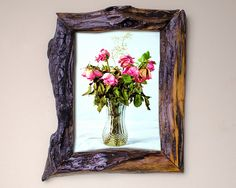 Reclaimed Canadian Barn Wood Picture Frame By