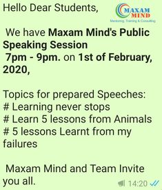 Join Personality development training, Leadership skills, Communication skills, Public Speaking, English Speaking classes at Kharghar and Vashi Navi Mumbai Communication Skills Training, Skill Training, Dear Students, Invite, Invitations, Hello Dear, Public Speaking, Lessons Learned, Leadership