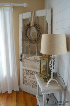 10 Ways to get Farmhouse Style in Your Home: Old Door                                                                                                                                                                                 More