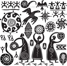 Elementos para el diseño de arte primitivo