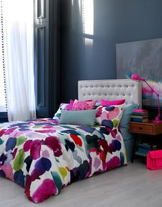 Home Duvet Covers Comforters Abstract Watercolour Fl Set Hudson S Bay