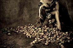 Self Portait with Apples - Kirsty Mitchell Photography Fae Face, Kirsty Mitchell, Self Portait, Female Photographers, Whippet, Nocturne, Amazing Photography, Fantasy Photography, Dog Lovers