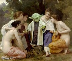 Yoda star wars painting