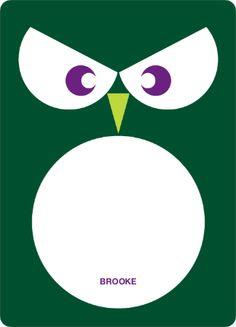 Wise Owl Modern Birthday Invitation - Forest Green