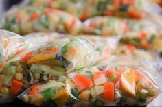 Seleta de legumes congelados