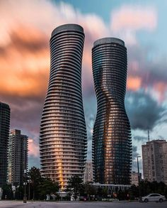 Marilyn Monroe Towers by MAD Architects Mississauga - Architecture and Home Decor - Bedroom - Bathroom - Kitchen And Living Room Interior Design Decorating Ideas - Toronto Architecture, Architecture Magazines, Unique Architecture, Futuristic Architecture, Tower Building, Dubai, Amazing Buildings, City Photography, House In The Woods