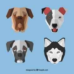 Geometric dog faces