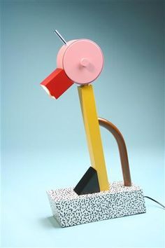 Table lamp, Tahiti. Designed by Ettore Sottsass for Memphis