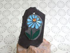 Mosaic Flower Wall Art ~ Blue Flower ~ Mosaic Decor ~ Unique Garden Decor ~ Gift for Her ~ Gardener Gift ~ Unique Gift ~ Recycled Mosaic Art by RecycleMeMosaics on Etsy