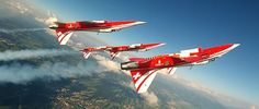 The Patrouille Suisse celebrating its 50th anniversary
