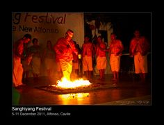 This is Sayaw sa Apoy, a ritual in the Sanghiyang Festival at Alfonso, Cavite A fire dance used to be performed also at Taal Vista Hotel to entertain guests and local and foreign tourist. This dance is said to be performed to drive away evil spirits.