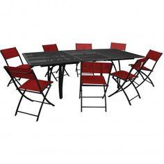 Ensemble Salon de jardin PACIFIC en aluminium brossé Table et 6 ...