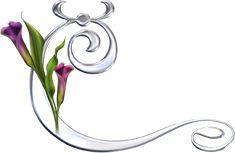 Alfabeto plateado con diversos tipos de flores. | Oh my Alfabetos!