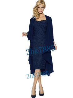 Navy Women Formal Evening Dress Free Jacket Mother of the Bride/Groom Dress 8th Grade Formal Dresses, Formal Evening Dresses, Bride Groom Dress, Bridesmaid Jewelry Sets, Mother Of The Bride, Lace Dress, Lace Up, Gowns, Jackets