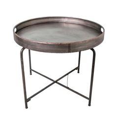 Kovový odkladací stolík Fer, 64 cm
