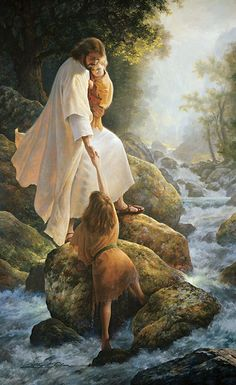 """And He said: """"Truly I tell you, unless you change and become like little children, you will never enter the kingdom of heaven..."""" - Matthew 18:3 (Painting """"Be Not Afraid"""" by Greg Olsen)"""