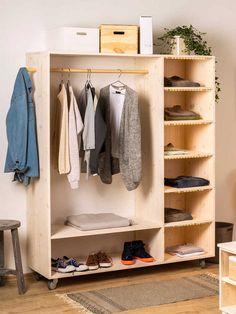 Wardrobe Design Bedroom, Wardrobe Furniture, Closet Storage, Bedroom Storage, Bedroom Decor, Pallet Closet, Small Bathroom Renovations, Best Tiny House, Build A Closet