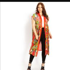 Forever 21 floral kimono plus size Forever 21 floral kimono plus size Forever 21 Tops Blouses