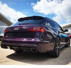 Purple #Audi #RS6 #quattro #v8 #biturbo
