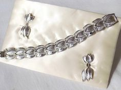 Vintage Bracelet & Earrings 1960s on Card Signed by STAR Houston TX by EyeSpyGoods on Etsy