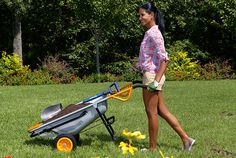 "WORX Aerocart 8-in-1 Wheelbarrow / Yard Cart / Dolly - WG050 - As seen on This Old House and DIY's ""I Want That""."