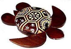 Tortuga de madera artesanal