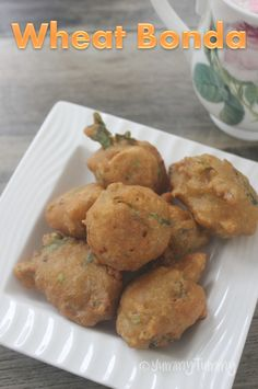 Super delicious and crispy wheat bonda which taste amazing and is fast to make. Easy Snacks, Easy Meals, Evening Snacks Indian, Aloo Bonda, Look And Cook, Healthy Brownies, Indian Food Recipes, Ethnic Recipes, Complete Recipe