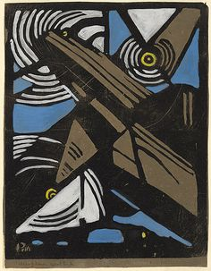 Margaret PRESTON, The aeroplane.