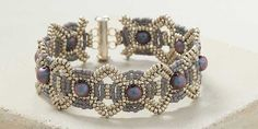 Carole Ohl shares her beaded bracelet design, Saturn Connections and it's a stunning beaded creation! Get the kit while supplies last.