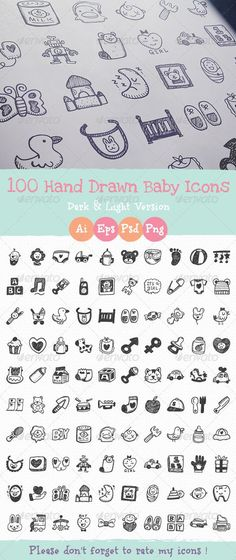 Hand+Drawn+Baby+Icons:
